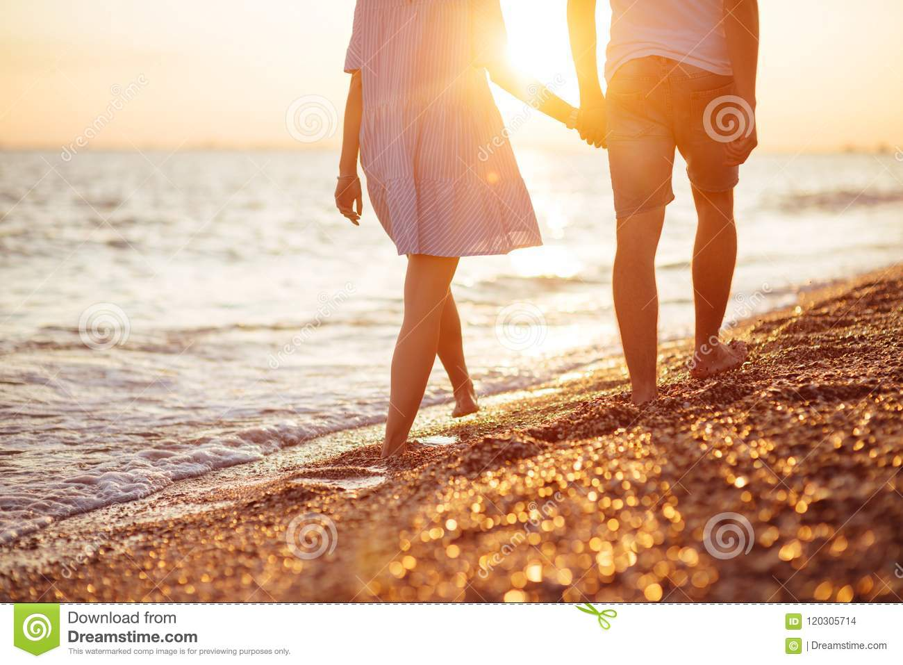 Download Young Happy Couple On Seashore. Stock Photo - Image of people, pretty: 120305714
