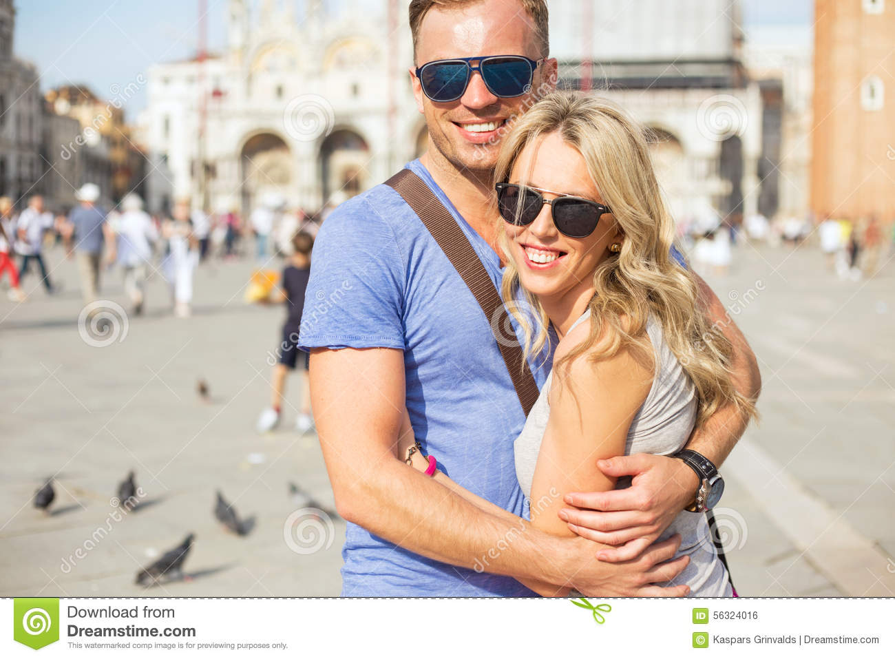 Young happy couple in Venice