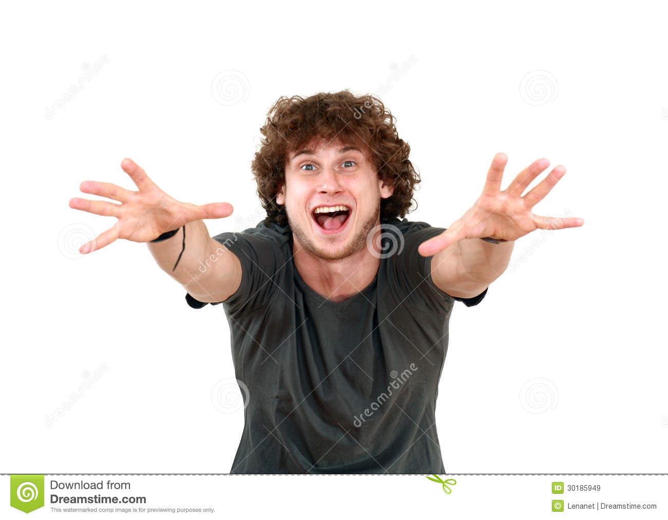 Man With Hand Trying To Reach Royalty Free Stock Images