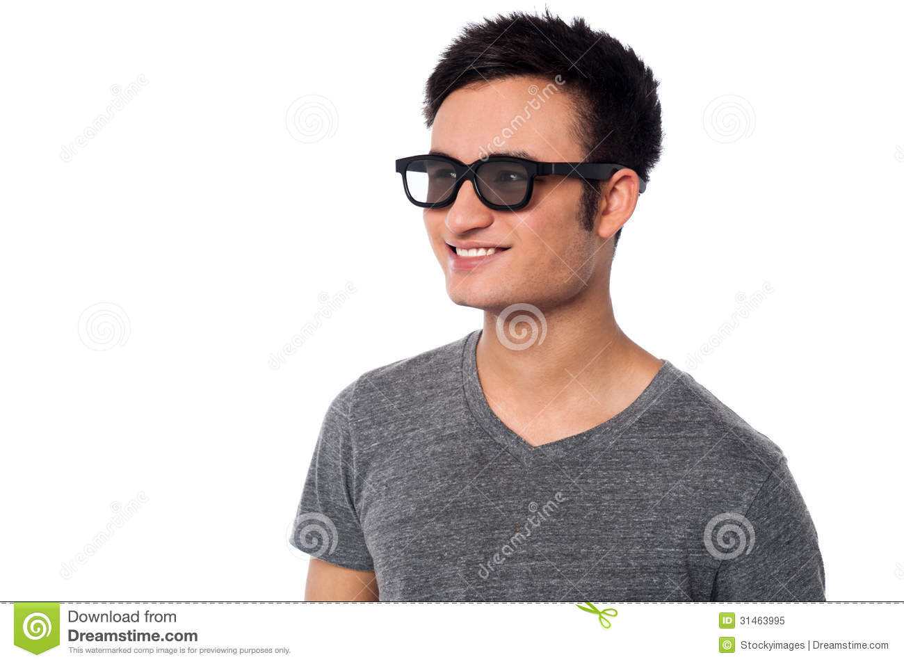 Young Happy Man Wearing Dark Sunglasses Stock Image ...