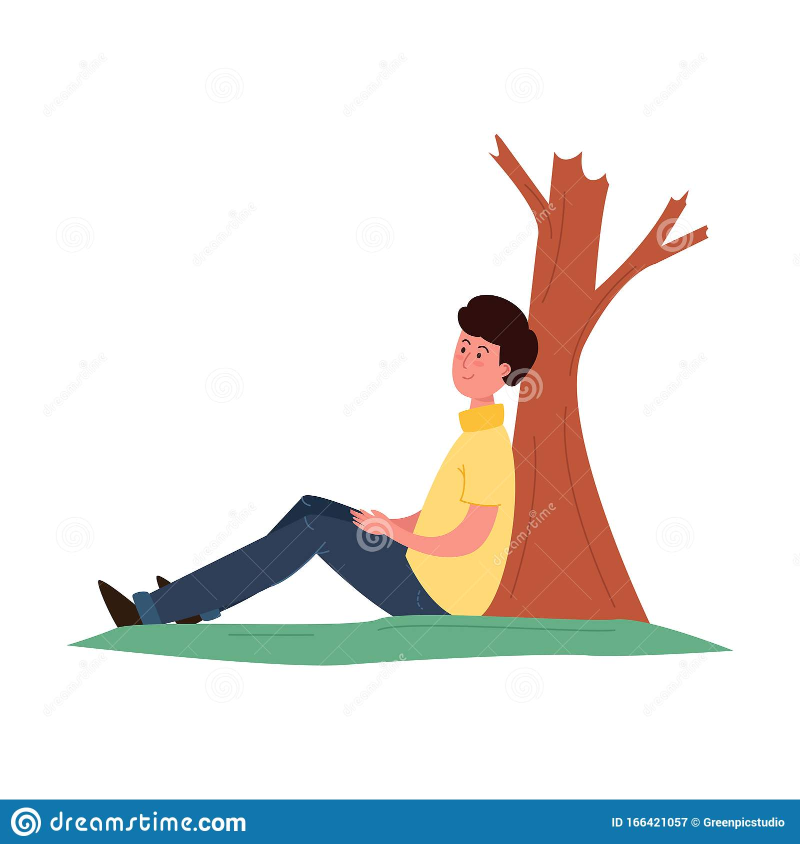 Cartoon Man Sitting Under Tree Stock Illustrations 153 Cartoon Man Sitting Under Tree Stock Illustrations Vectors Clipart Dreamstime The player must construct a trap using one rope and one small fishing net. https www dreamstime com young happy smiling black haired man taking rest sitting green grass under tree relax time concept isolated vector image166421057