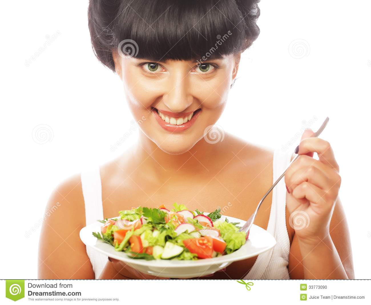 young-happy-woman-eating-salad-isolated-