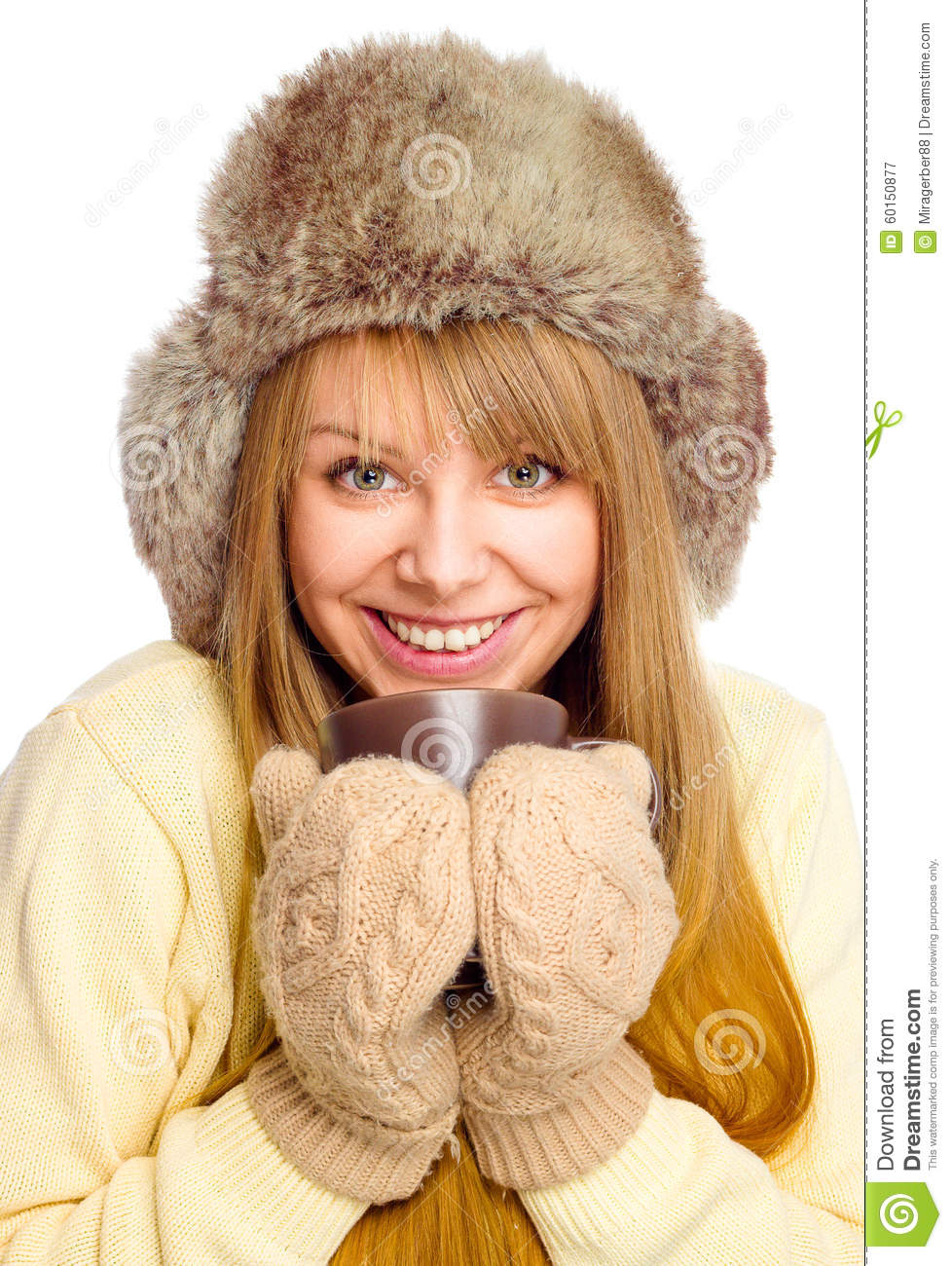 22742423c00a Young Happy Woman Wearing Winter Cloth Stock Image - Image of ...