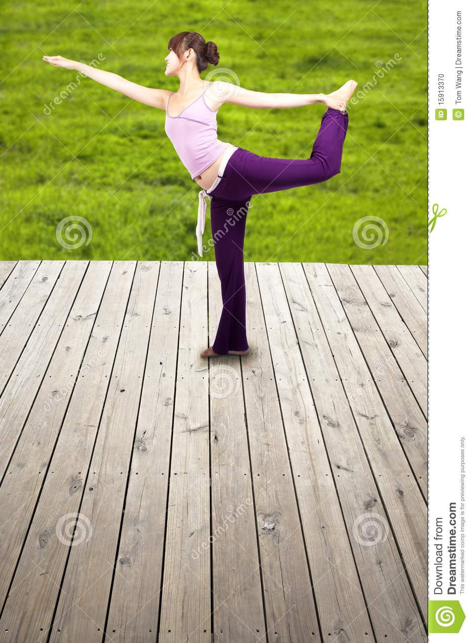 Young happy yoga woman