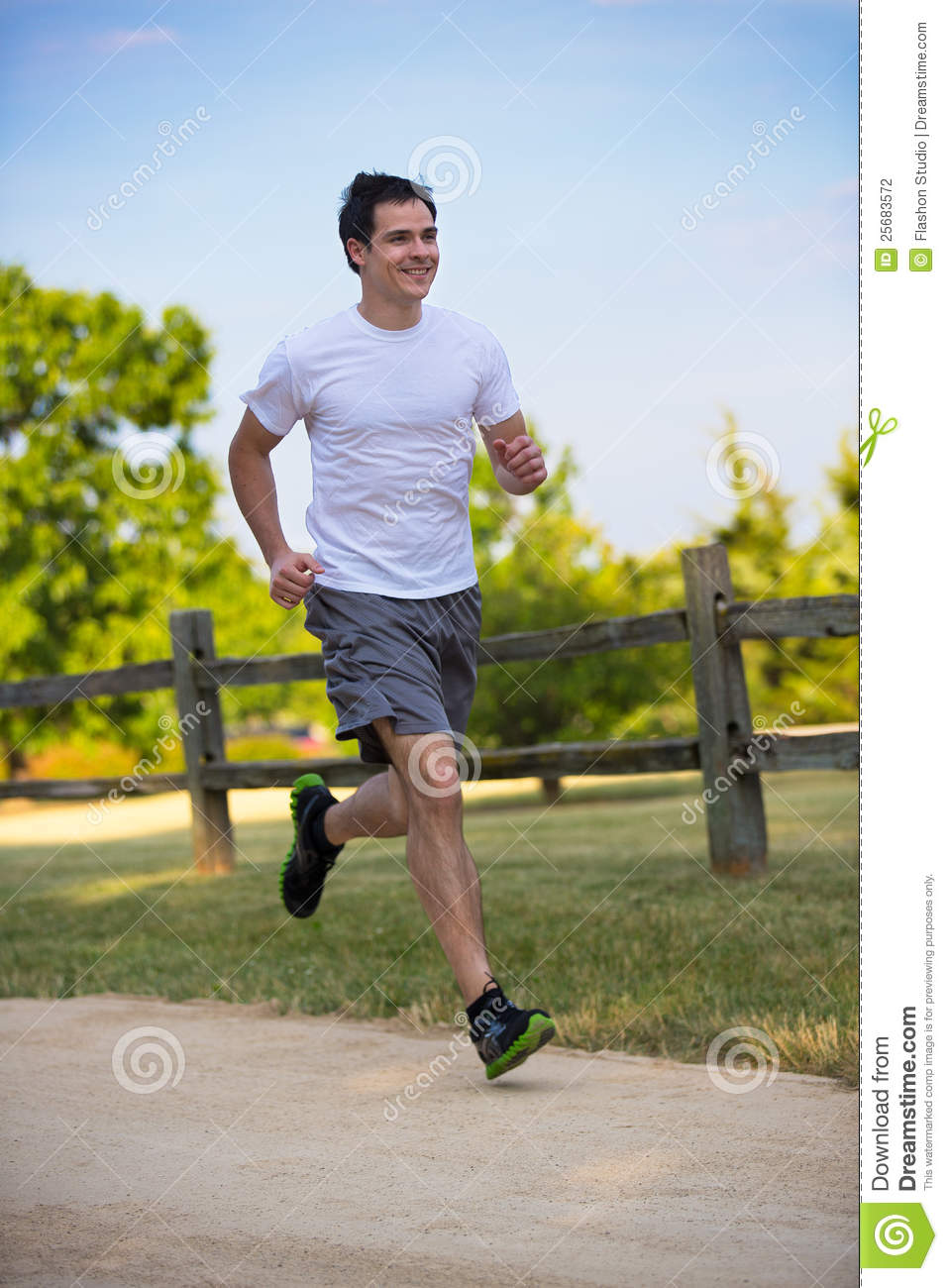 young healthy man jogging in the woods stock photography cycling clip art images cycling clip art