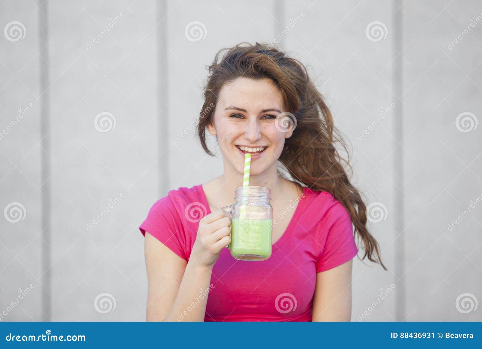 Healthy young teen girl assured