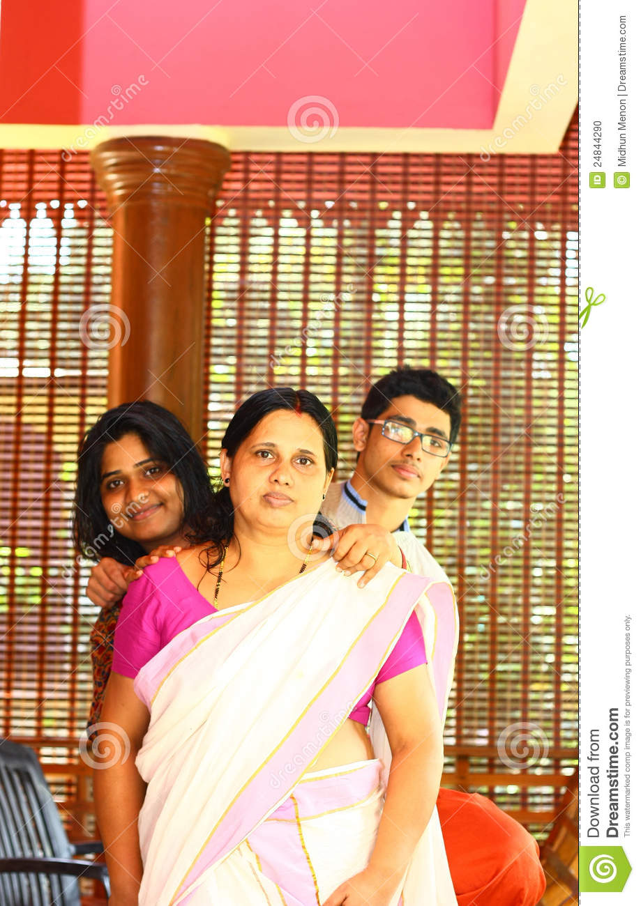 images of Young Indian Family Mother Daughter And Son Stock Photo ...