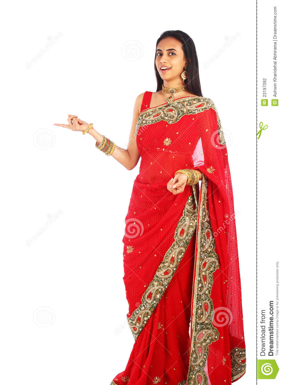 Young Indian Girl In Traditional Clothing. Stock ...