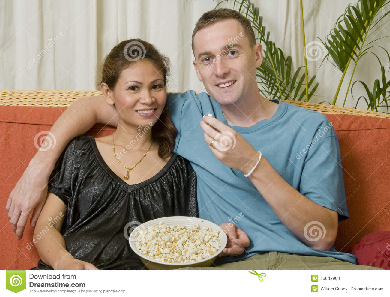 Interacial Minimalist young interacial couple stock image. image of happy, caucasian