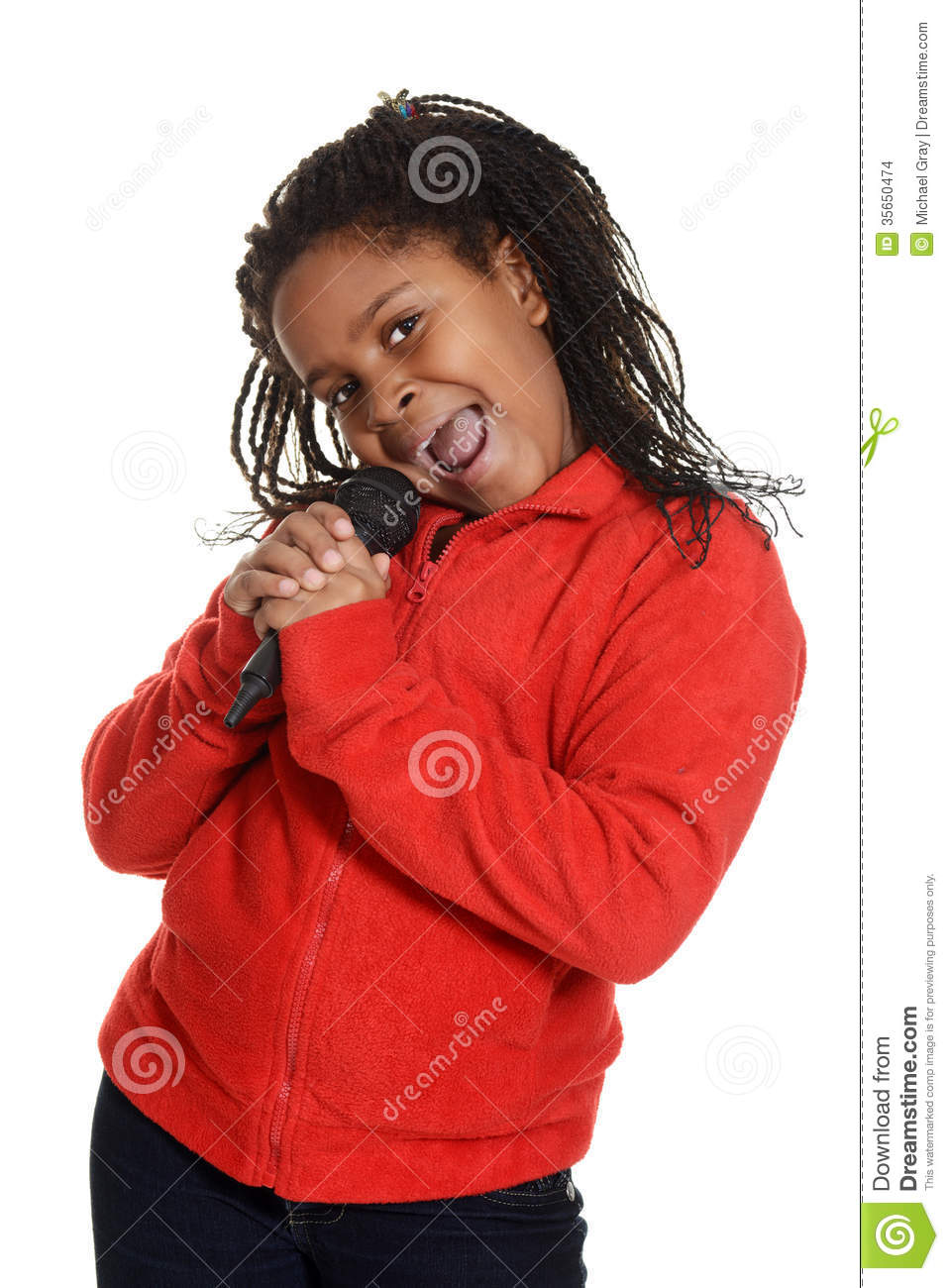 young jamaican girl singing stock photo   image of holding