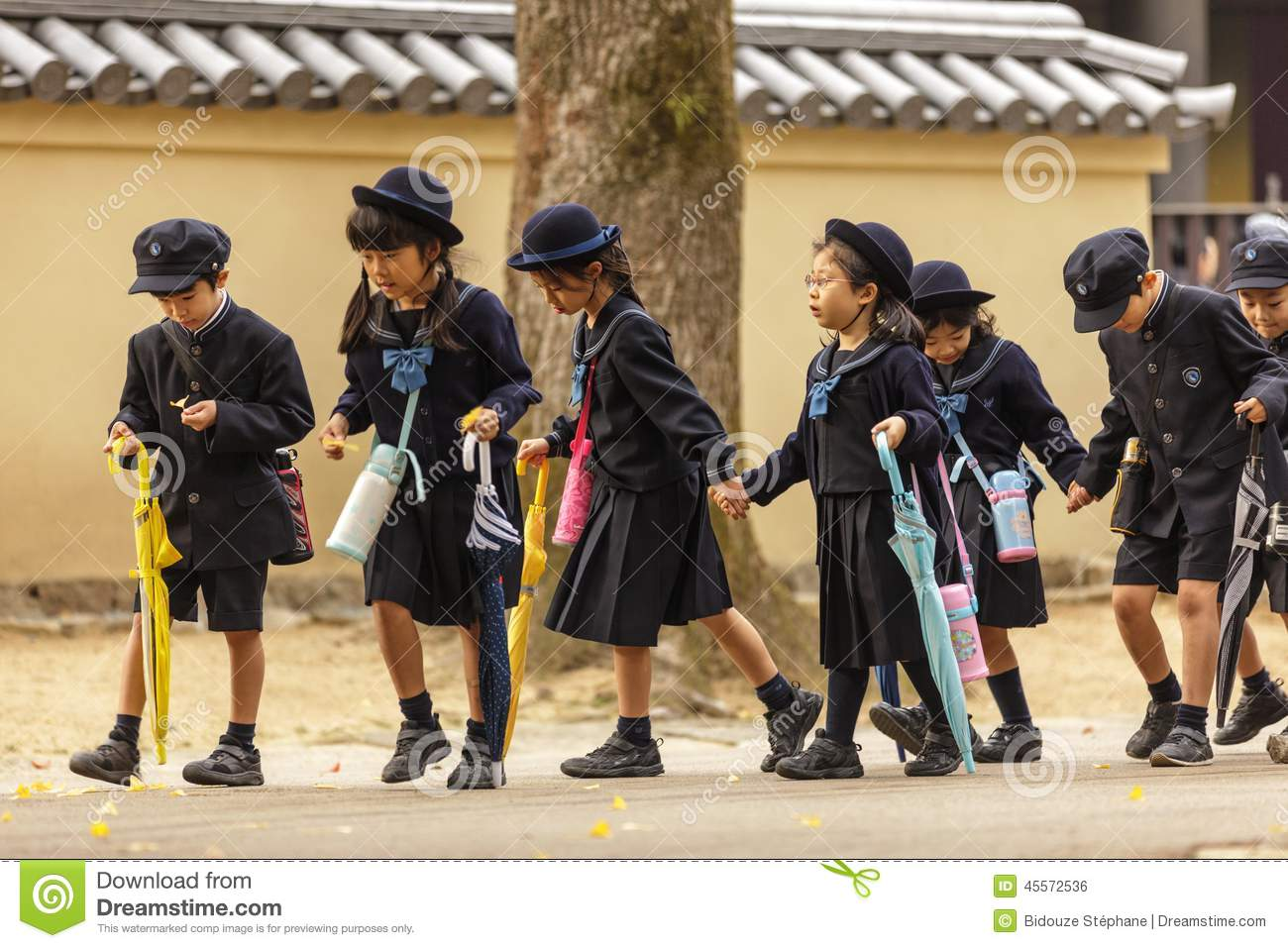 Young Japanese Pupils Editorial Photo - Image: 45572536