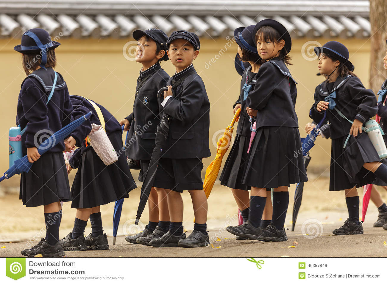 Young Japanese Pupils Editorial Stock Image Image Of Elementary
