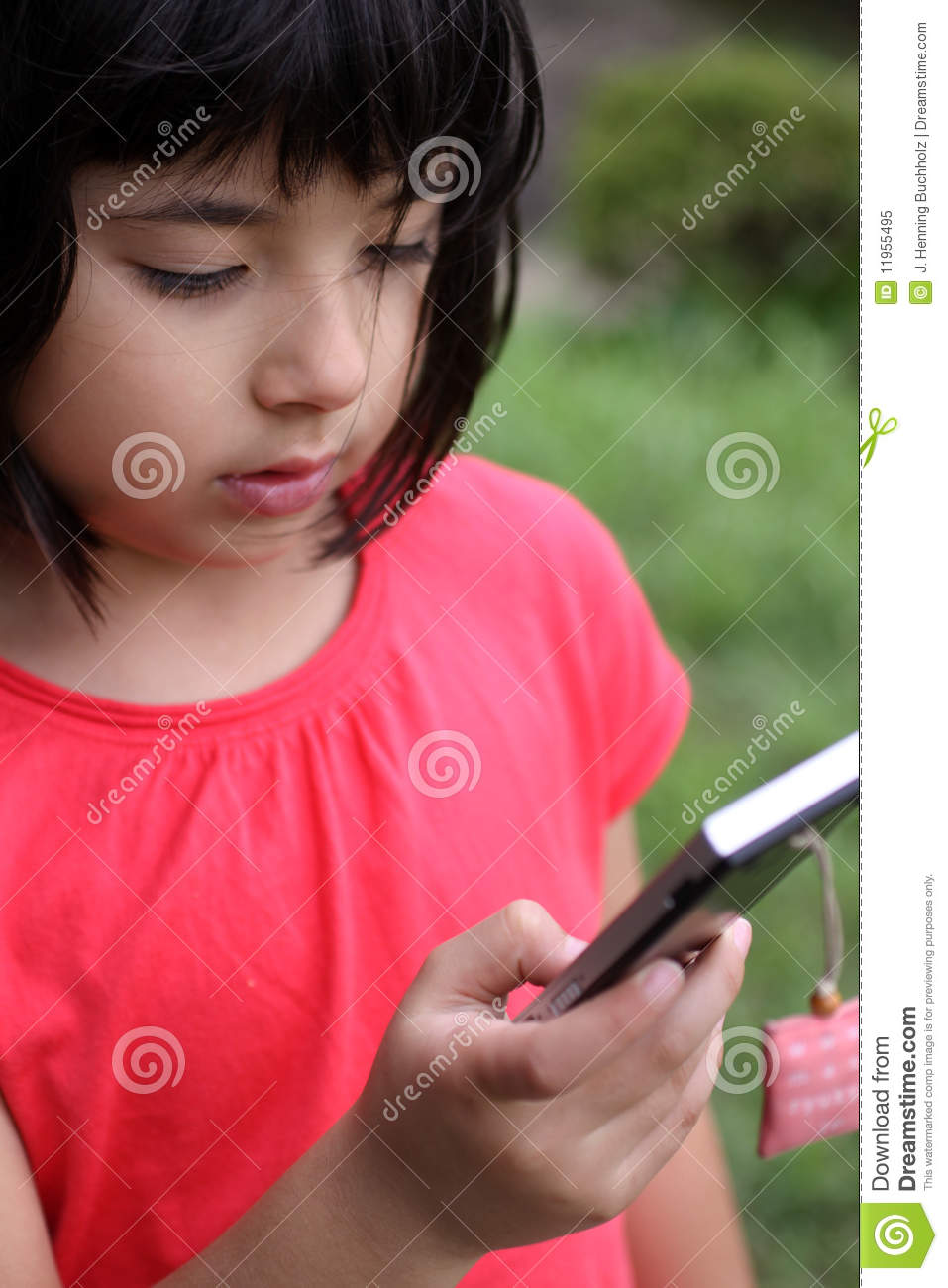 images of Young Japanese Russian Girl Playing With Cellphone Royalty ...