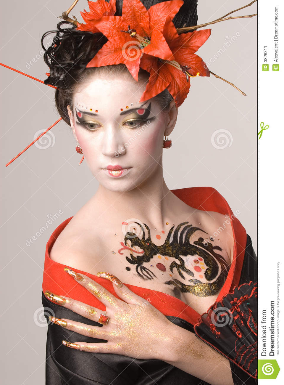 The Young Japanese Woman Stock Image Image 3826311