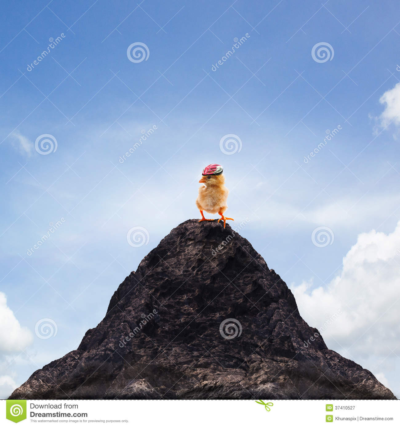 Young Kid On Top Of The Mountain Stock Image ...