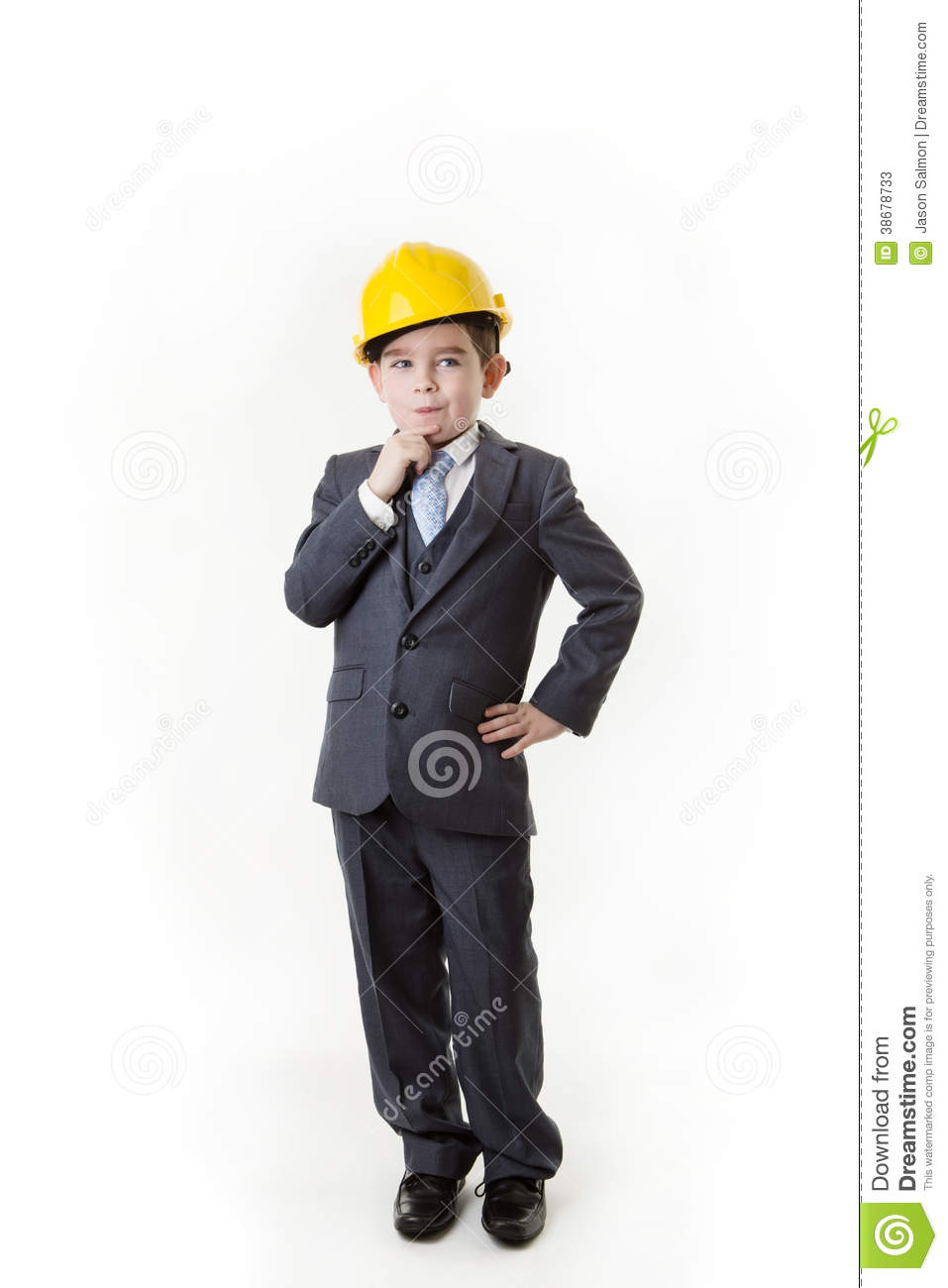 young kid dressed up as a business person stock image image of