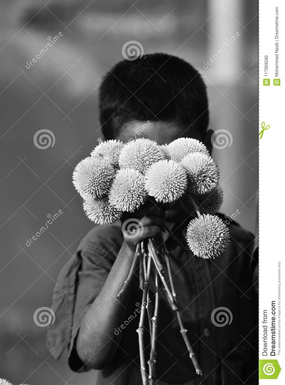 Download Young Kid Is Selling Flowers On The Street Isolated Unique Photograph Editorial Image - Image of bangladesh, holding: 117959580