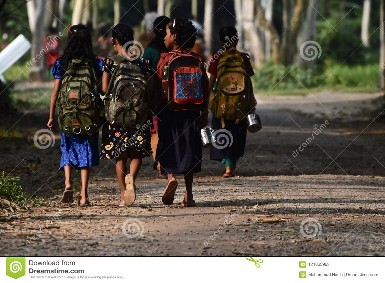 Download Young Kids Are Going To School In Bangladesh Unique Photo Editorial Stock Photo - Image of going, students: 121365963