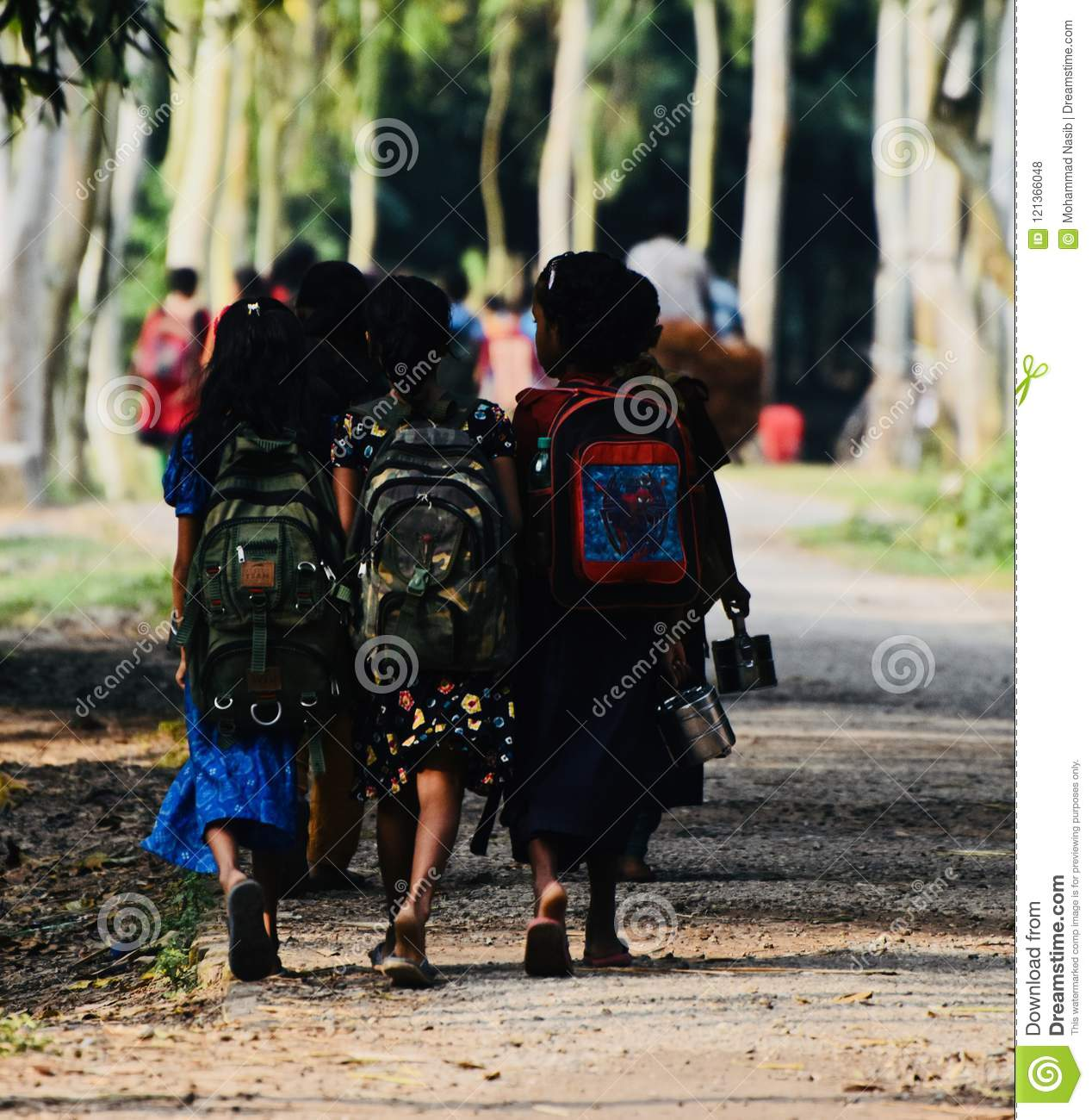 Download Young Kids Are Going To School In Bangladesh Unique Photo Editorial Stock Photo - Image of bangladesh, school: 121366048