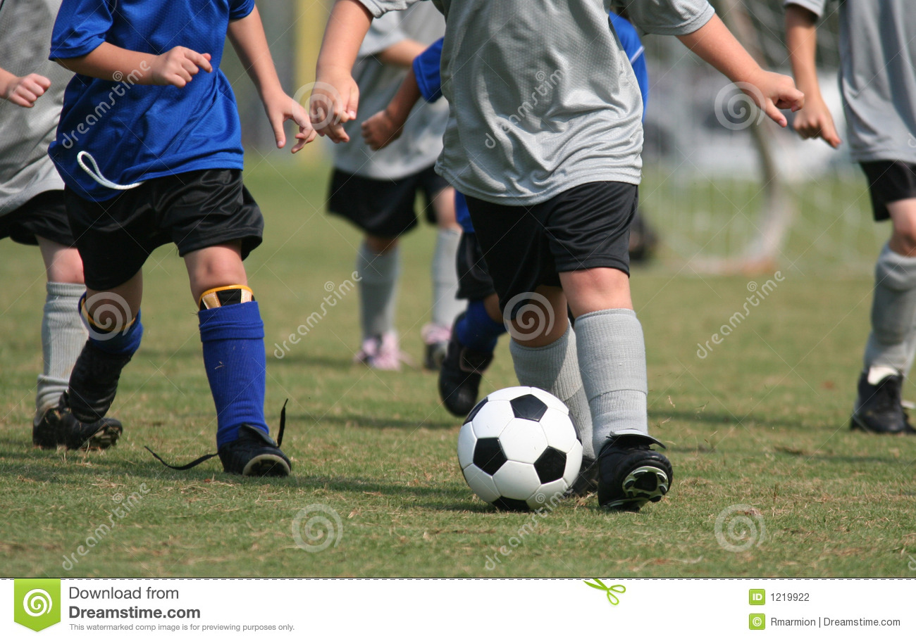 Young Kids Playing Soccer