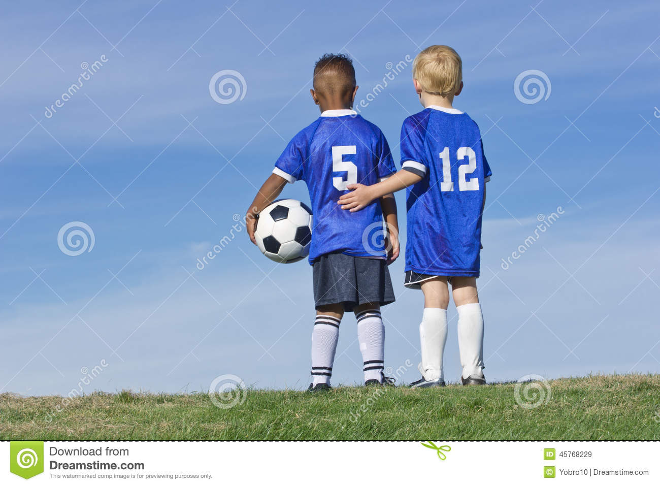 Young Kids On A Soccer Team Stock Photo - Image: 45768229