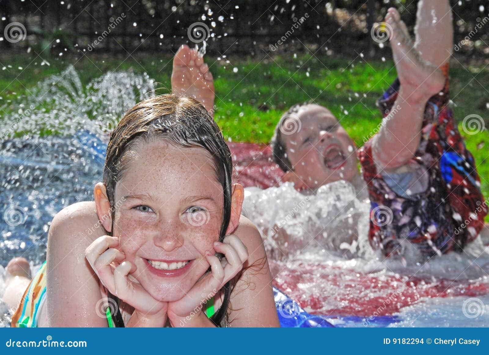 Outside Kid Water Games