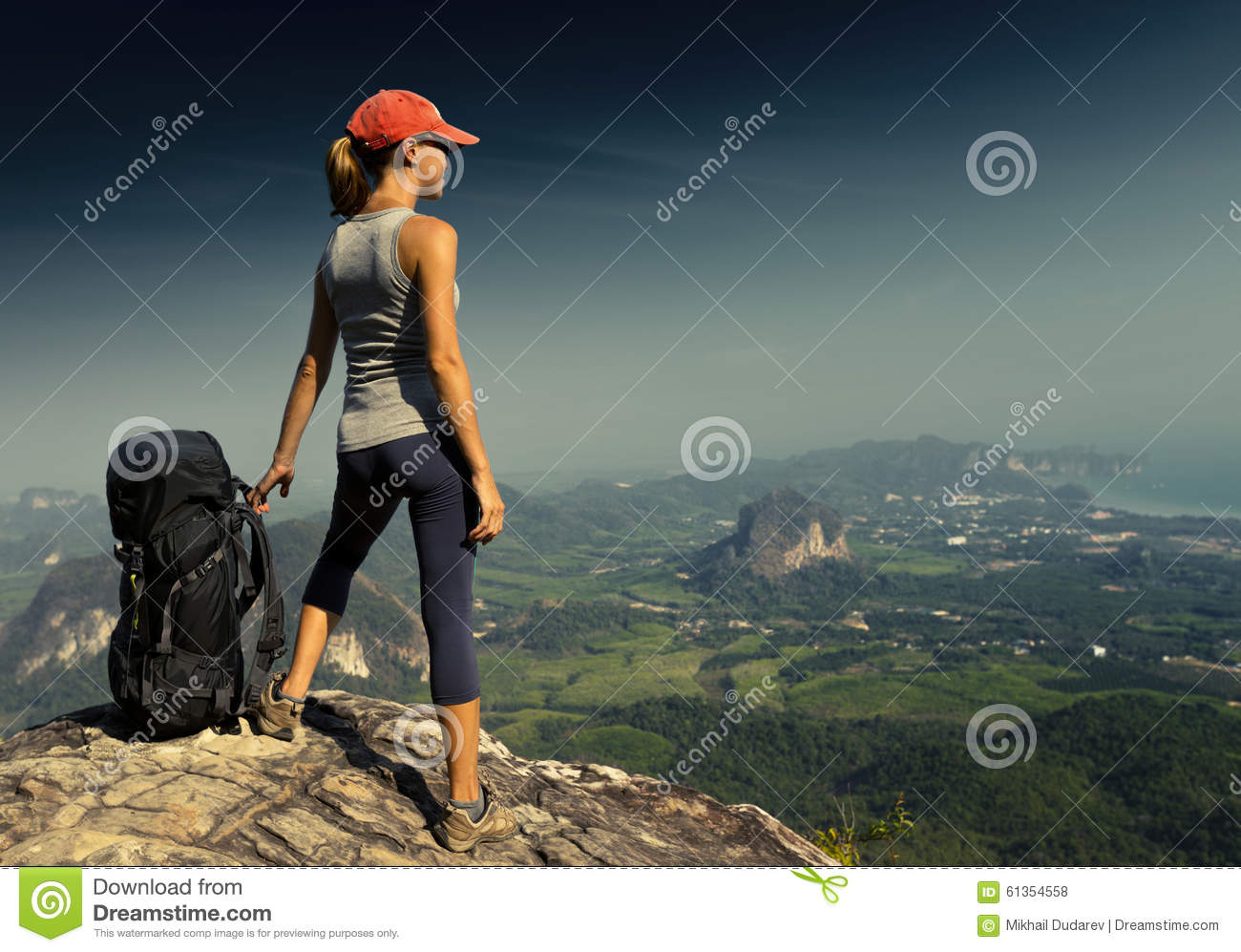 Young lady with backpack