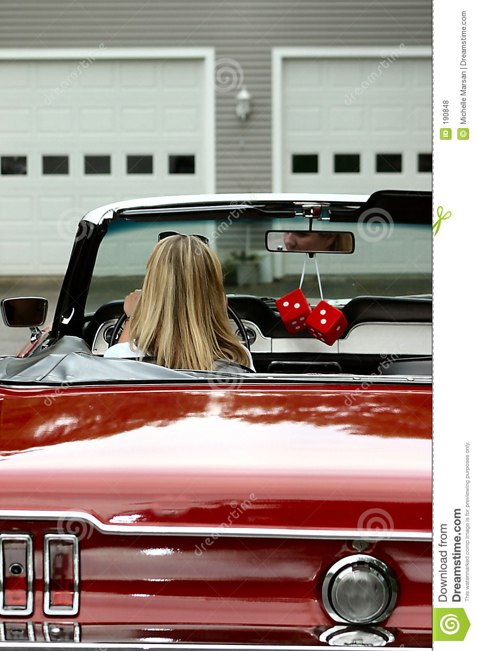 Young Lady In Convertible Sports Car Stock Photo Image