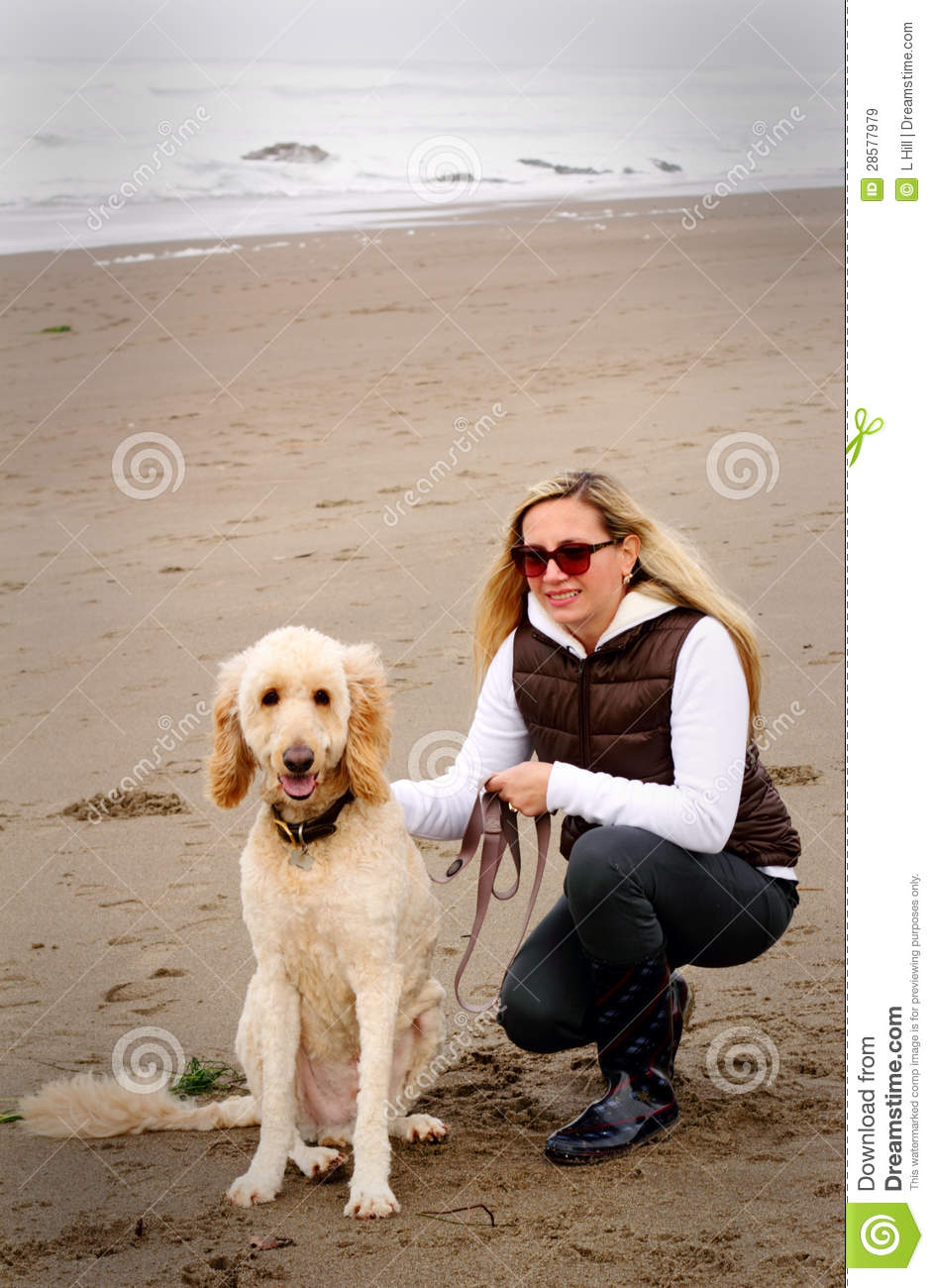 young lady with dog royalty free stock images