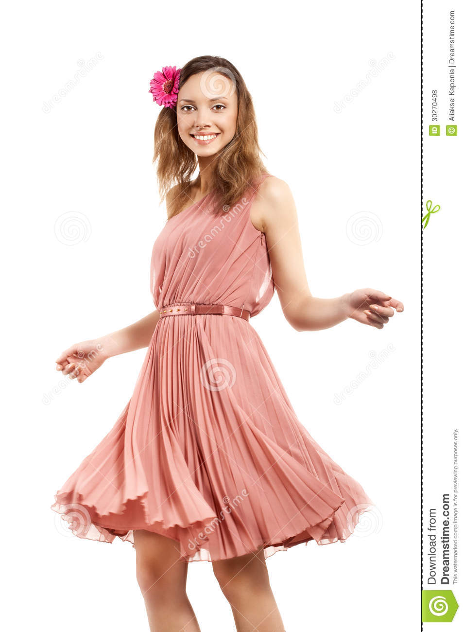 young lady in pink dress royalty free stock photos image