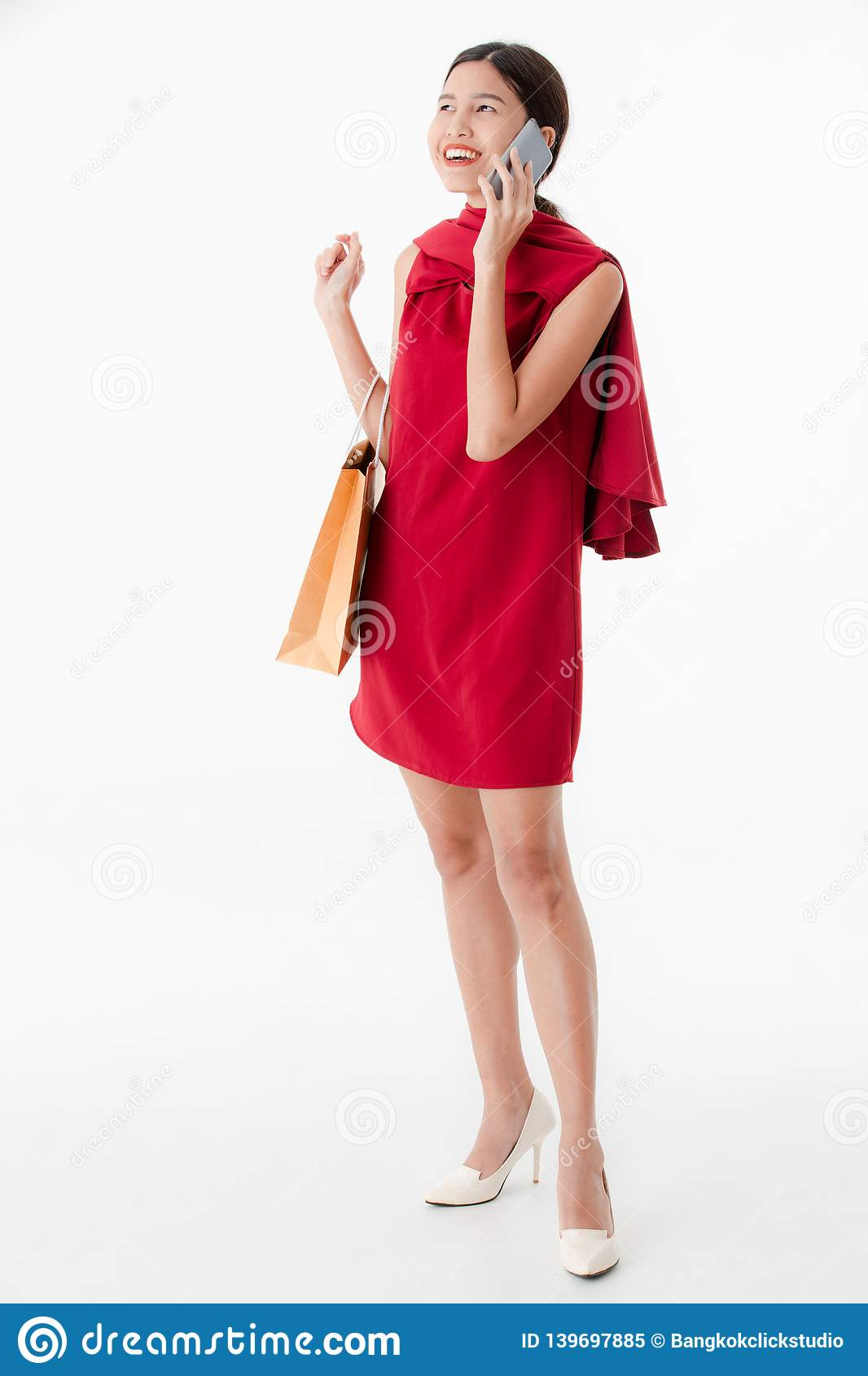 2dd3627469 Young lady in red dress stock image. Image of elegant - 139697885