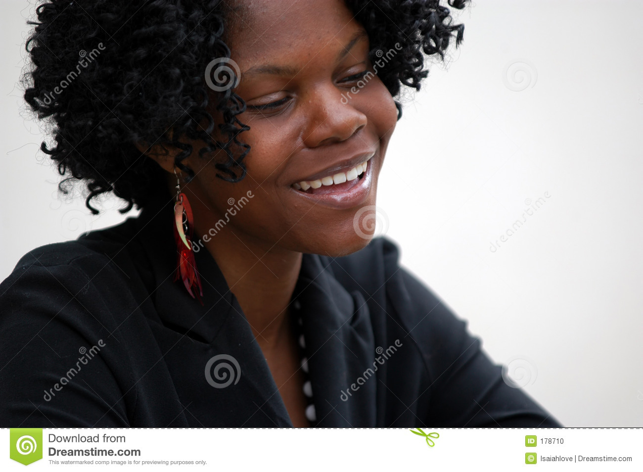 Young lady smiling