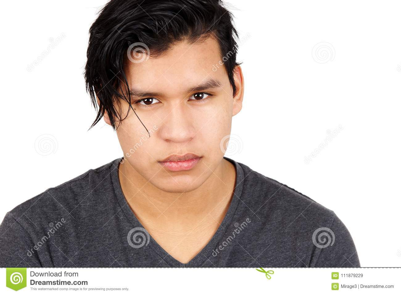 young latino man serious stock image image of student 111879229