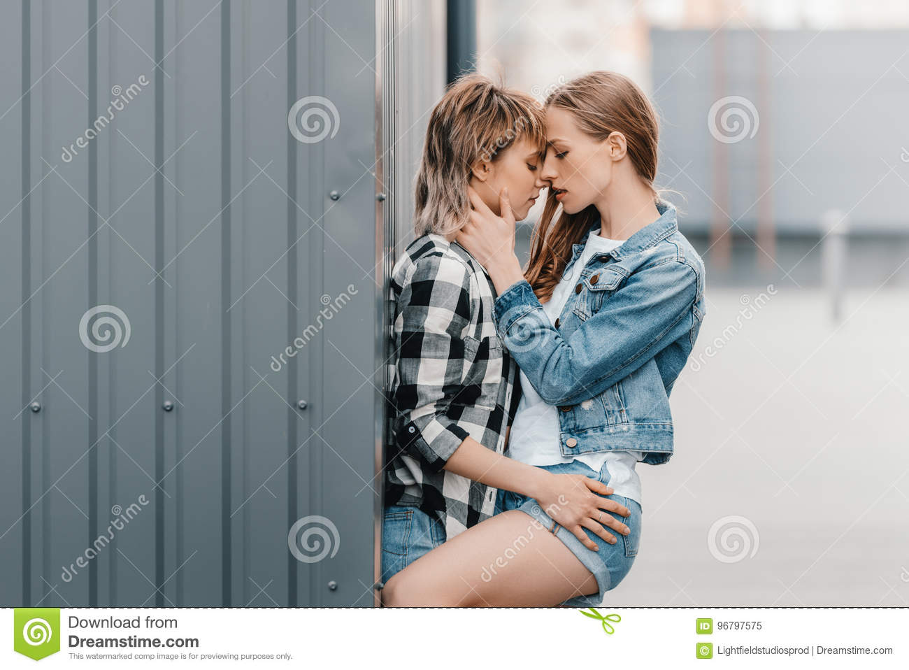 lesbian couple hugging stock photos - 633 images