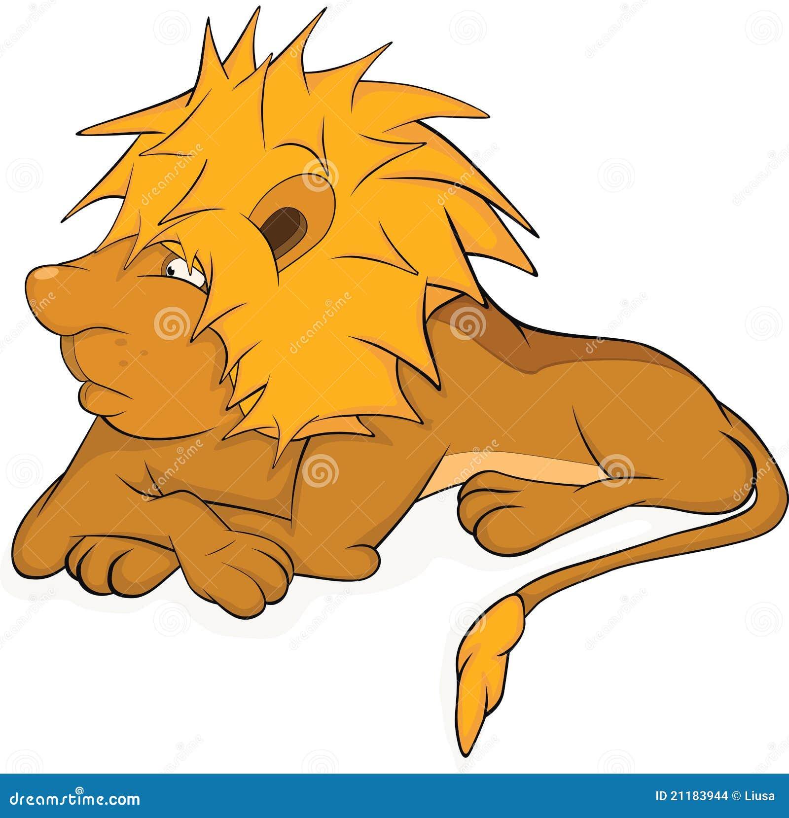 Young lion. Cartoon