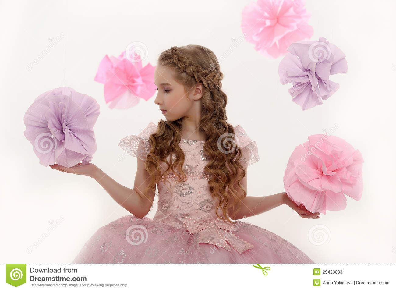 Young magic fairy
