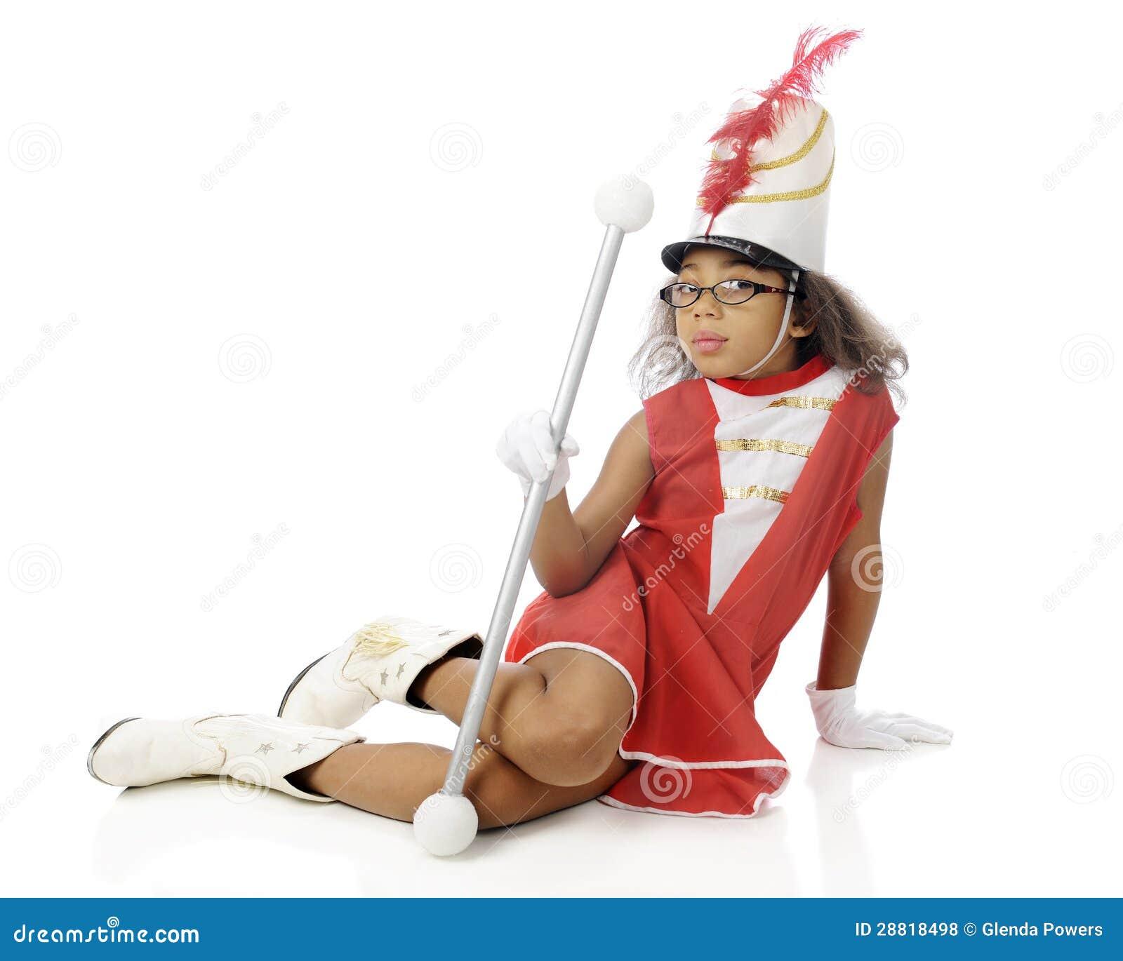 young majorette sitting royalty free stock photos image Baton Clip Art majorette dance clipart