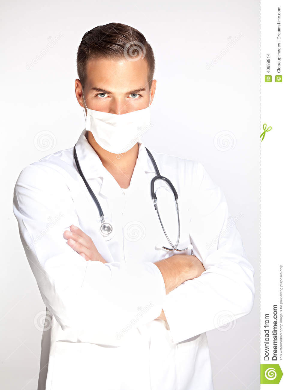 Mask Doctor Of Stock - Young With Image Photo Male Surgeon
