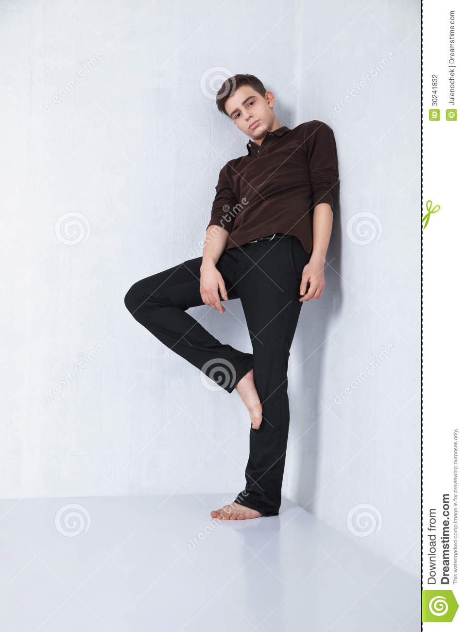 Young Male Fashion Model Posing In Casual Outfit Stock Photo - Image 30241832