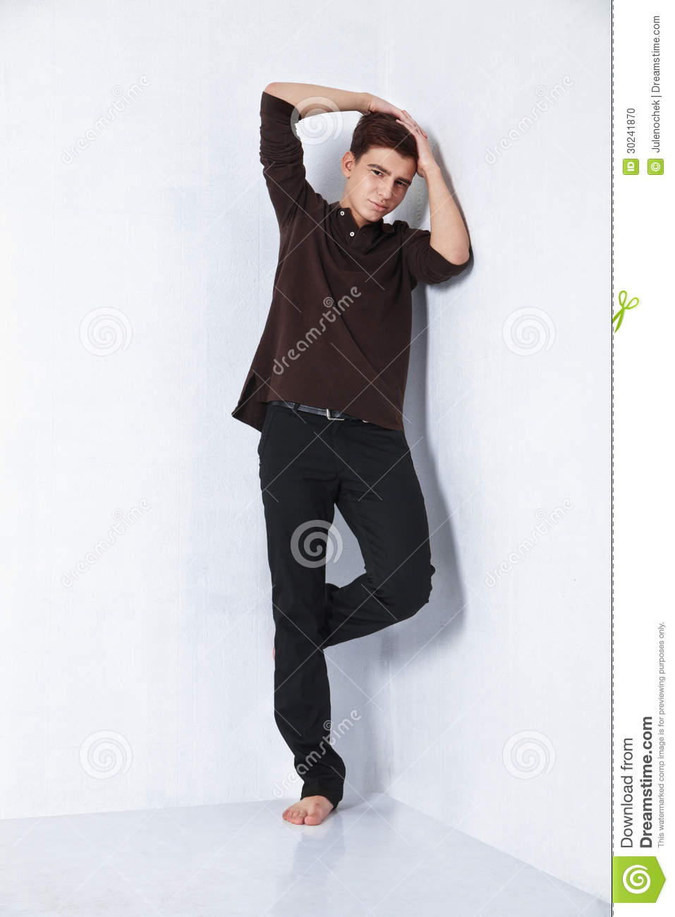 Young Male Fashion Model Posing In Casual Outfit Stock Photo - Image 30241870