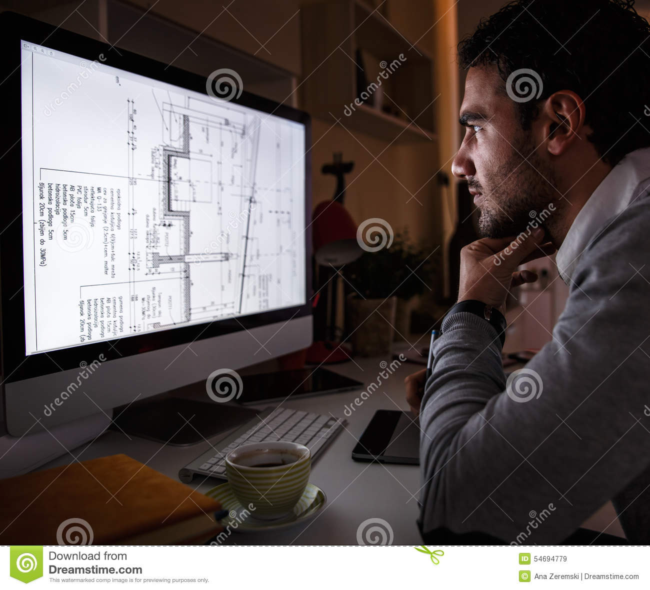 Young male programmer