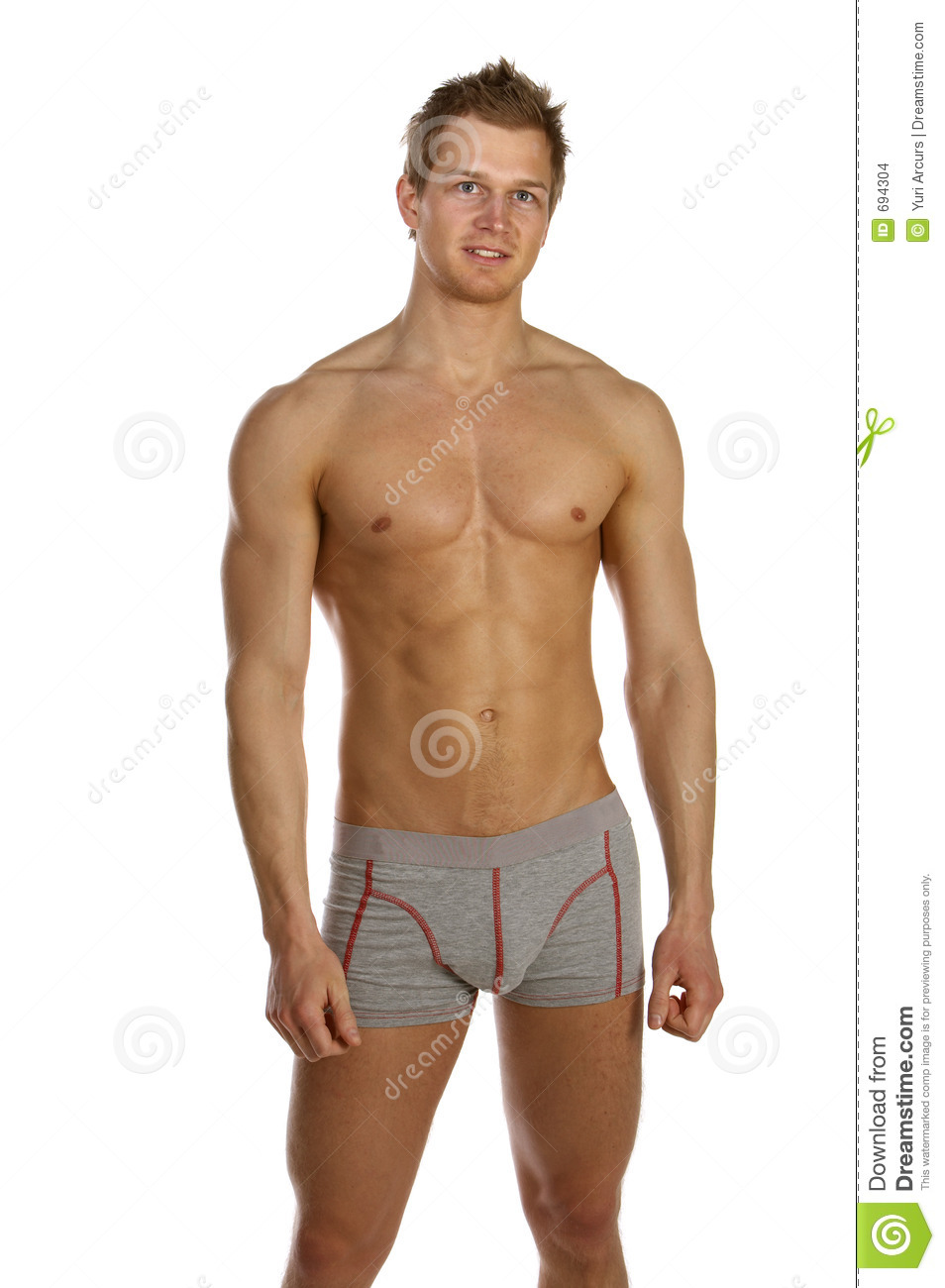 Stock Images: Young male underwear model.