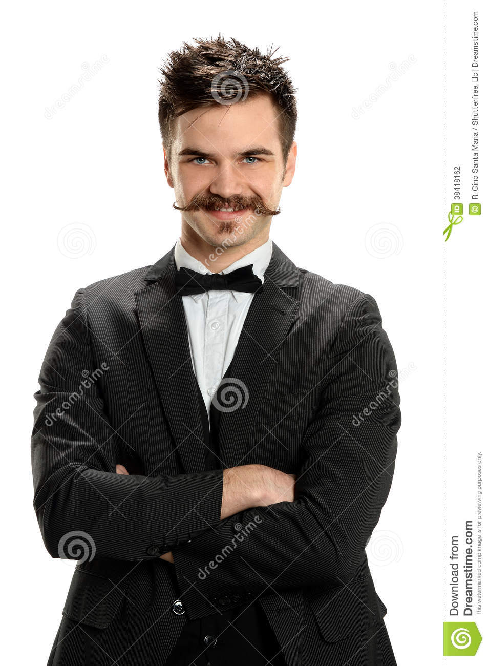 Background batik pattern stock photography image 803022 - Cross Clipart Black And White Young Man With Arms Crosses And Fancy Mustache Stock