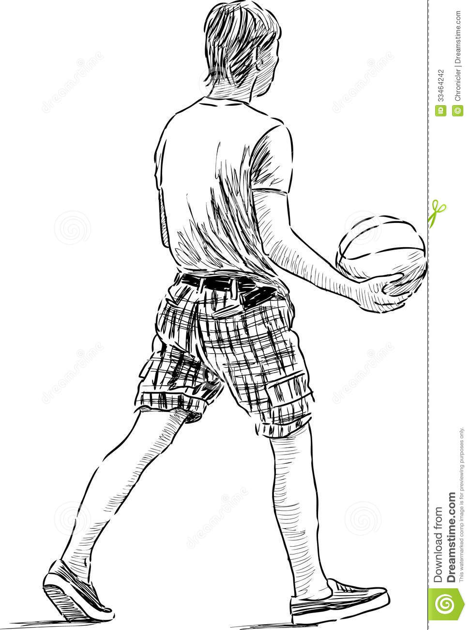 Young Man With The Ball Stock Photography - Image: 33464242