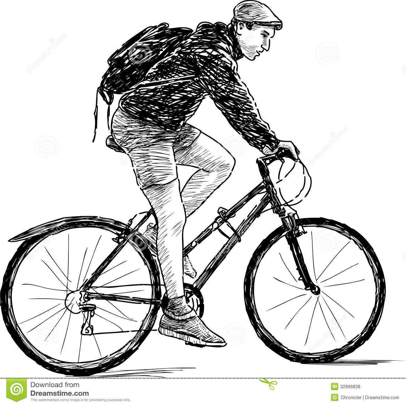 Young man on bicycle stock photo. Image of male, cycle ...