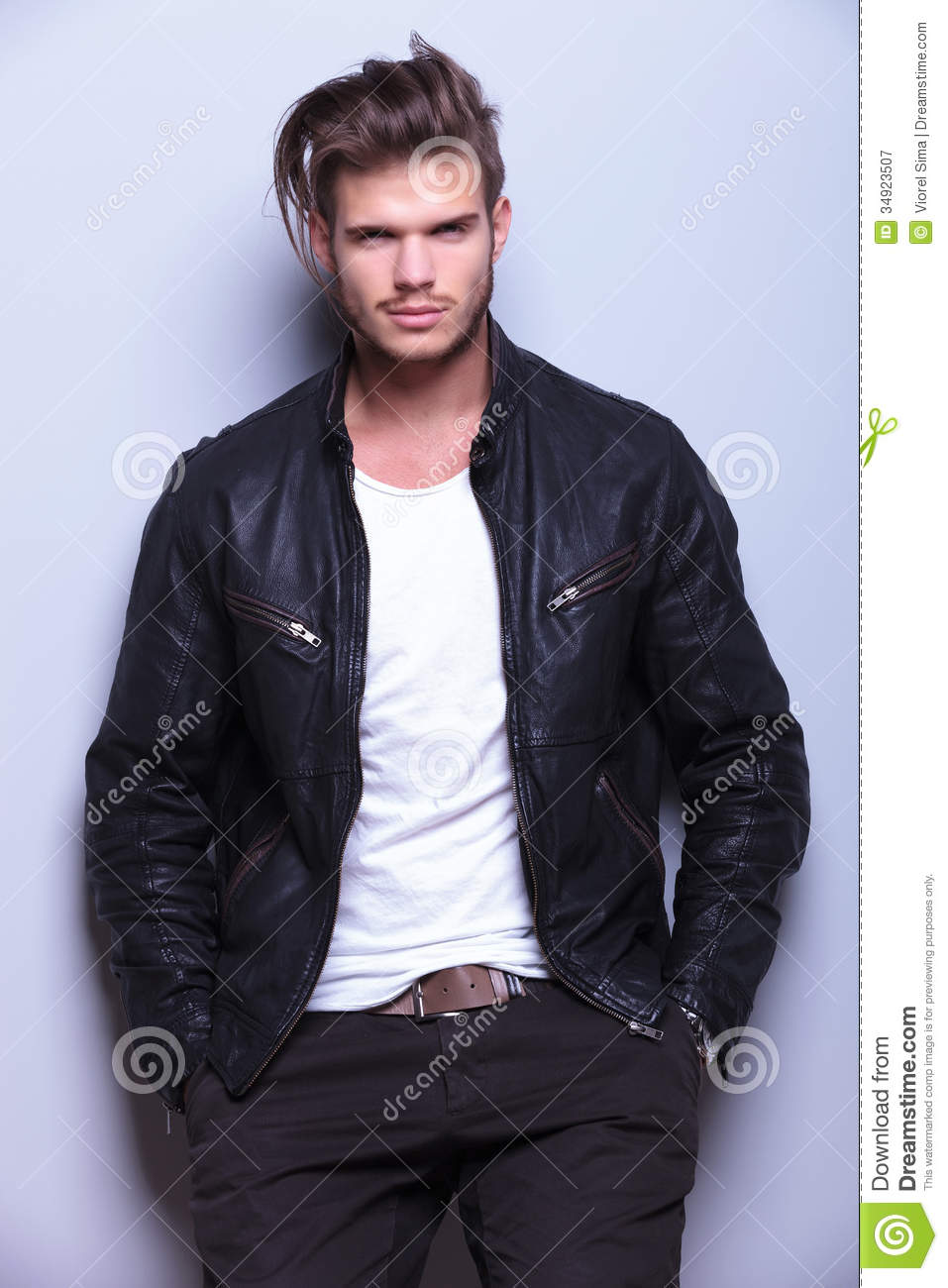 Cheap Clothing Stores Jacket Leather For Man