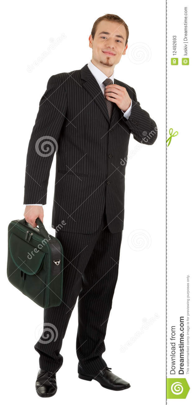 Young Man In A Black Suit Stock Photos - Image: 12492693