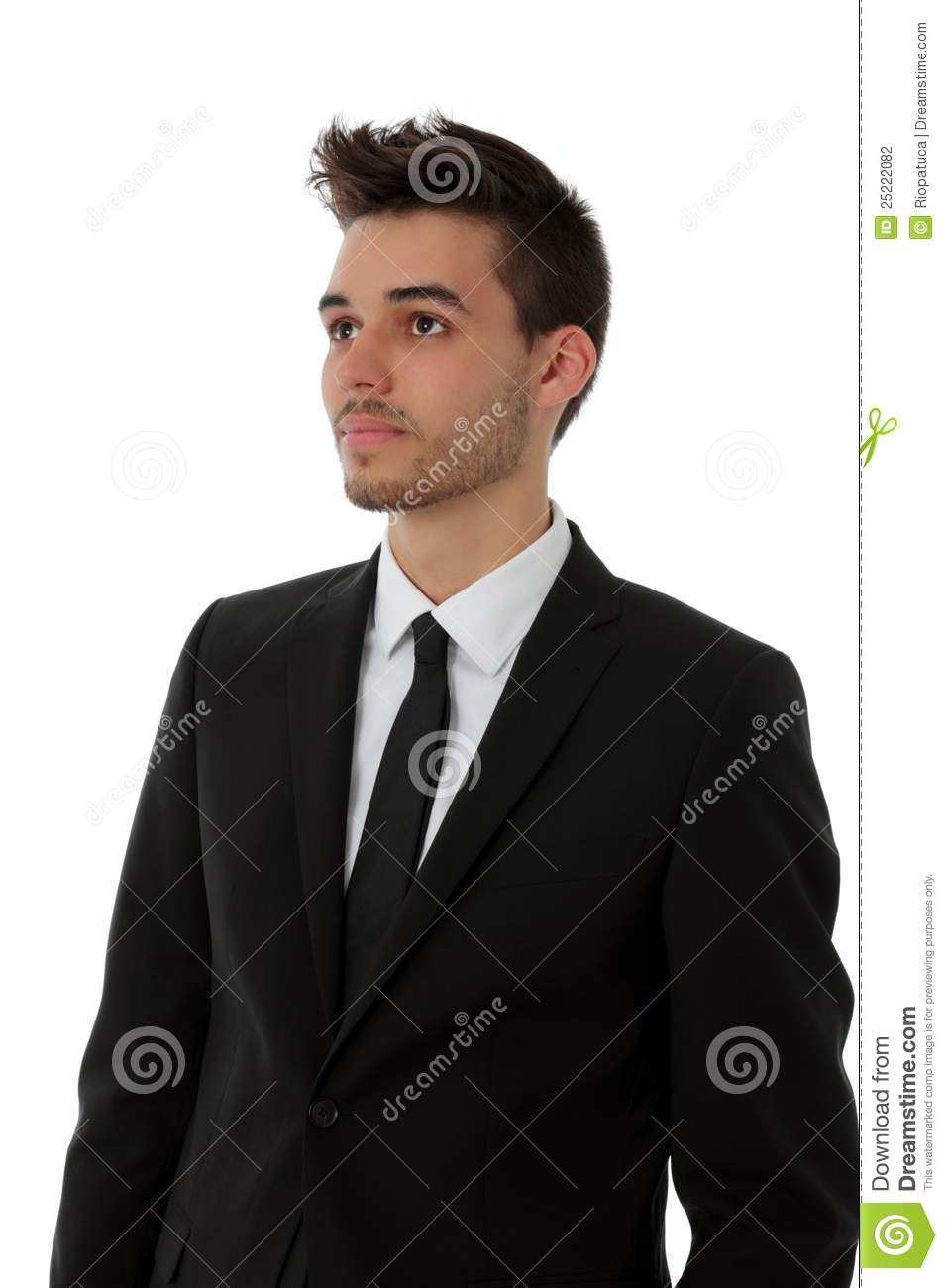 Young Man In Black Suit Stock Photography - Image: 25222082
