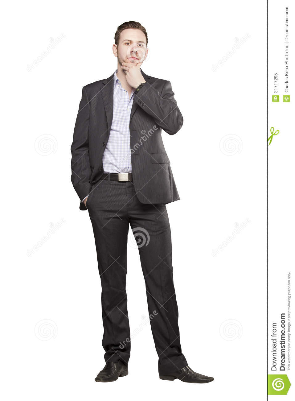 Young Man In Black Suit Royalty Free Stock Photo - Image ...