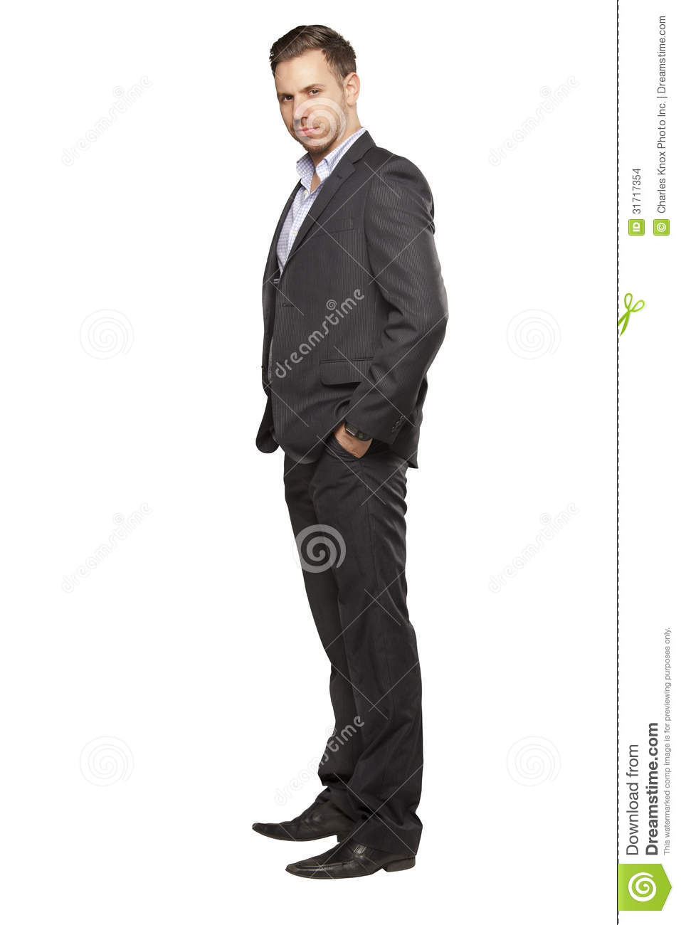 Young Man In Black Suit Stock Images - Image: 31717354